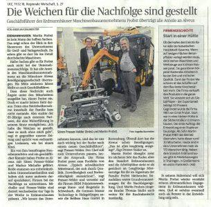 Zeitungsbericht Ludwigsburger Kreiszeitung über Probst, Erdmannhausen
