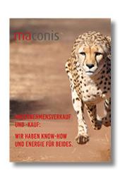 Maconis, Imagebroschüre, Unternehmenskauf, Unternehmenverkauf, Nachfolge, M & A, Beratung